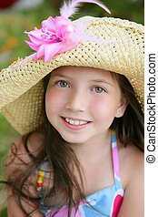 Closeup portrait of beautiful teen girl - Closeup portrait...