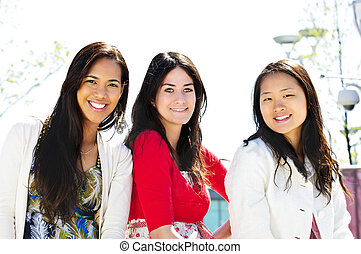Group of young girl friends