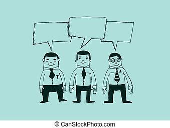 Business Man Speech Bubble