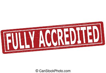 Fully accredited - Stamp with text fully accredited inside,...