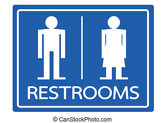 Restroom Symbol Male and Female Icon