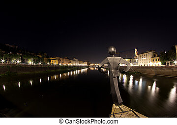 Ponte Vecchio of Florence in Tuscany, Italy