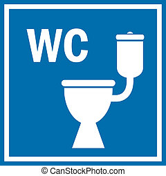 Toilet sign - Toilet vector sign