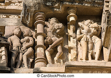 Temple in Khajuraho, India.