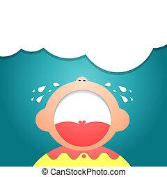 Children Cry - Vector illustrator EPS 10