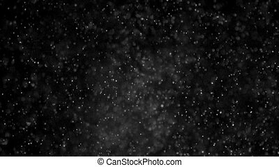 Chaotic Wildness - Small white particles flow in the air on...