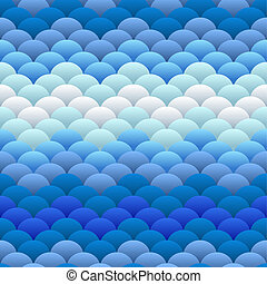 Cold sea watery blobs seamless background - Simple geometric...