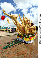 Candle Festival Thai art  Candle wax in UbonRatchathani, Thailan