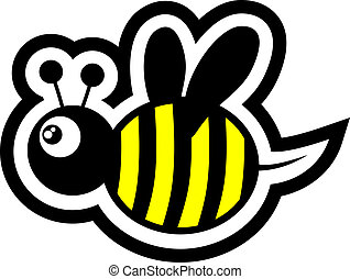 funny bee - Creative design of funny bee