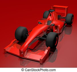 red car - Creative design of red car