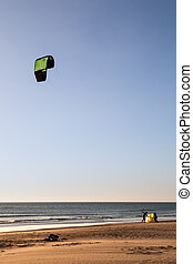 Kitesurfing - In the photo you can see some athletes on the...
