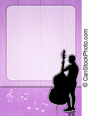 Man with cello silhouette - an illustration of a Man with...