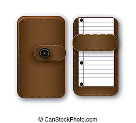 Notepad - brown Notepad for notes of the backstop image
