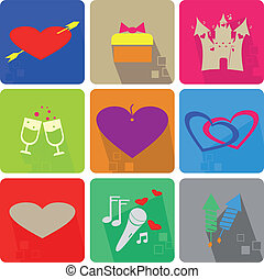 Valentine s Day - Icons set for Valentine s Day - colored