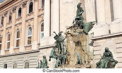 Buda castle Matthias fountain