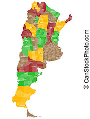 Map of Argentina - A large and detailed map of Argentina...