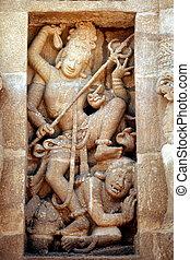 Dancing Shiva - Shiva Nataraja Kali stone carving,...