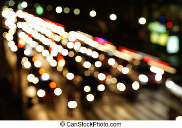 Night lights of the big city