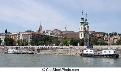 Danube river Budapest cityscape Hungary