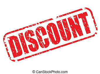 DISCOUNT red stamp text