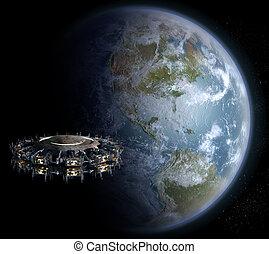 Alien invasion nearing Earth - Alien UFO mothership invasion...