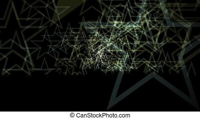 Abstract Starfield Background - Animated abstract motion...