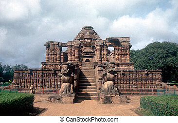 Sun temple - Hindu temple, Konarak, Orissa, India