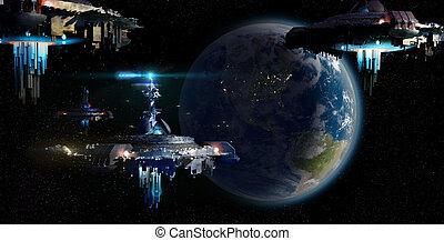 Alien UFO invasion nearing Earth - Alien UFO motherships...