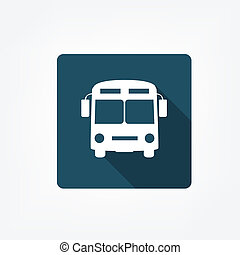 Bus stop icon isolated on white Flat icon