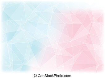 pink and blue polygon abstract background - pink and blue...