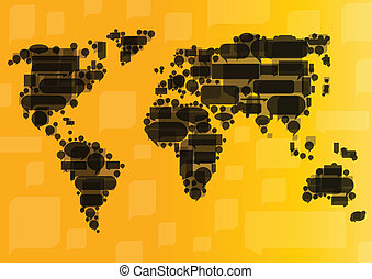 Globalization concept of business and communication vector...