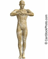 Male Stone Statue - 3D Render of an Male Stone Statue
