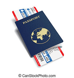 Vector airline passenger and baggage boarding pass tickets...