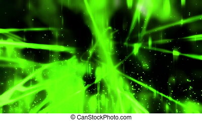 Green Abstract and Particles Loop