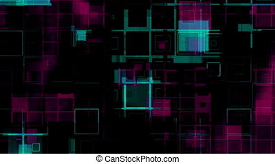 Squares Looping Abstract Multicolor