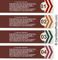 Set elements of infographics with arrows on white background