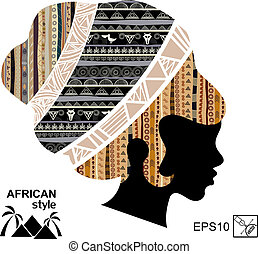 Silhouette of the head of an African woman