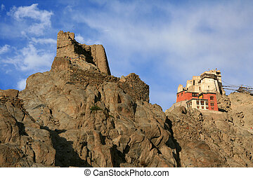 Tsemo Castle, Leh, India - Tsemo Castle on top of mountain...