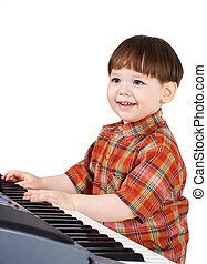 young toddler stu to play music - young kid learn to play...