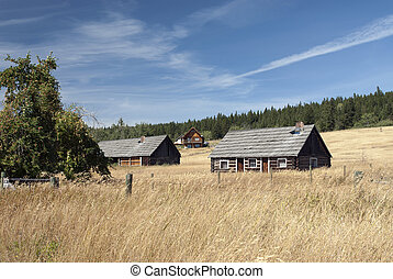 Cottages and village in the Cariboo Country