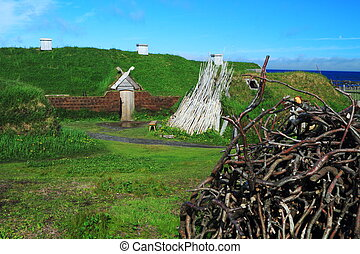 Viking settlement - Ancient homes of Viking settlers in...