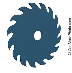 saw blade on white background - 3d illustration
