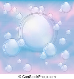 Sky and bubbles background - An illustration of the sky and...