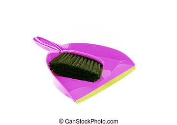 Purple Dustpan - Brush to sweep and dustpan to collect...