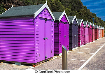 Bournemouth Beach Huts - Colourful wooden beach huts at...