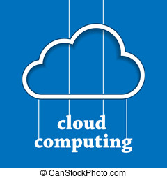 Cloud computing template - Illustration of cloud shape...
