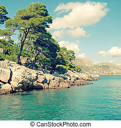 summer landscape, Adriatic Sea Dalmatia, Croatia - Beautiful...