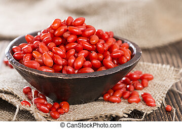 Goji Berries Wolfberry - Some fresh Goji Berries also known...