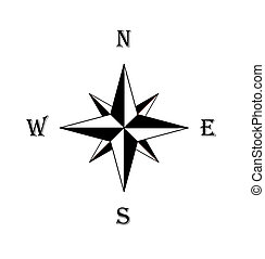 Compass rose - Black compass rose