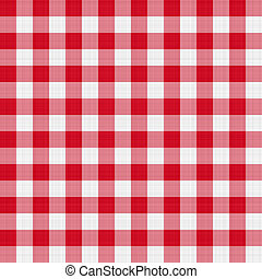 red table cloth - seamless texture of red and white blocked...